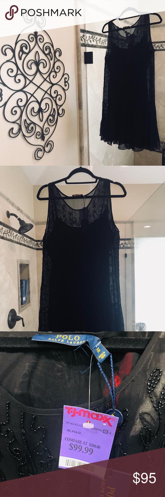 43b93d14f57f Ralph Lauren Sequin Layer Black Dress Brand new (TJ Maxx Purchase) Ralph  Lauren Sequin