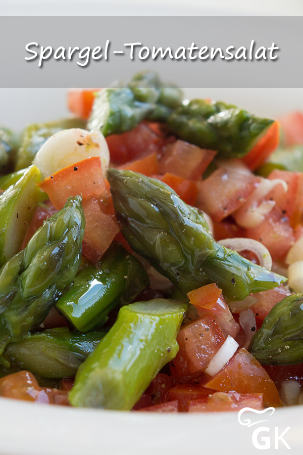 Photo of The asparagus tomato salad is easy to prepare and tastes light and …