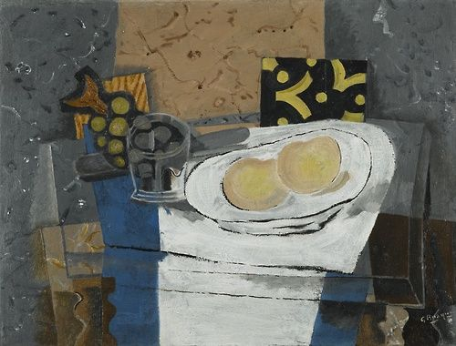 GEORGES BRAQUE Verre, Fruits et Couteau (Glass, Fruit and Knife, 1935)