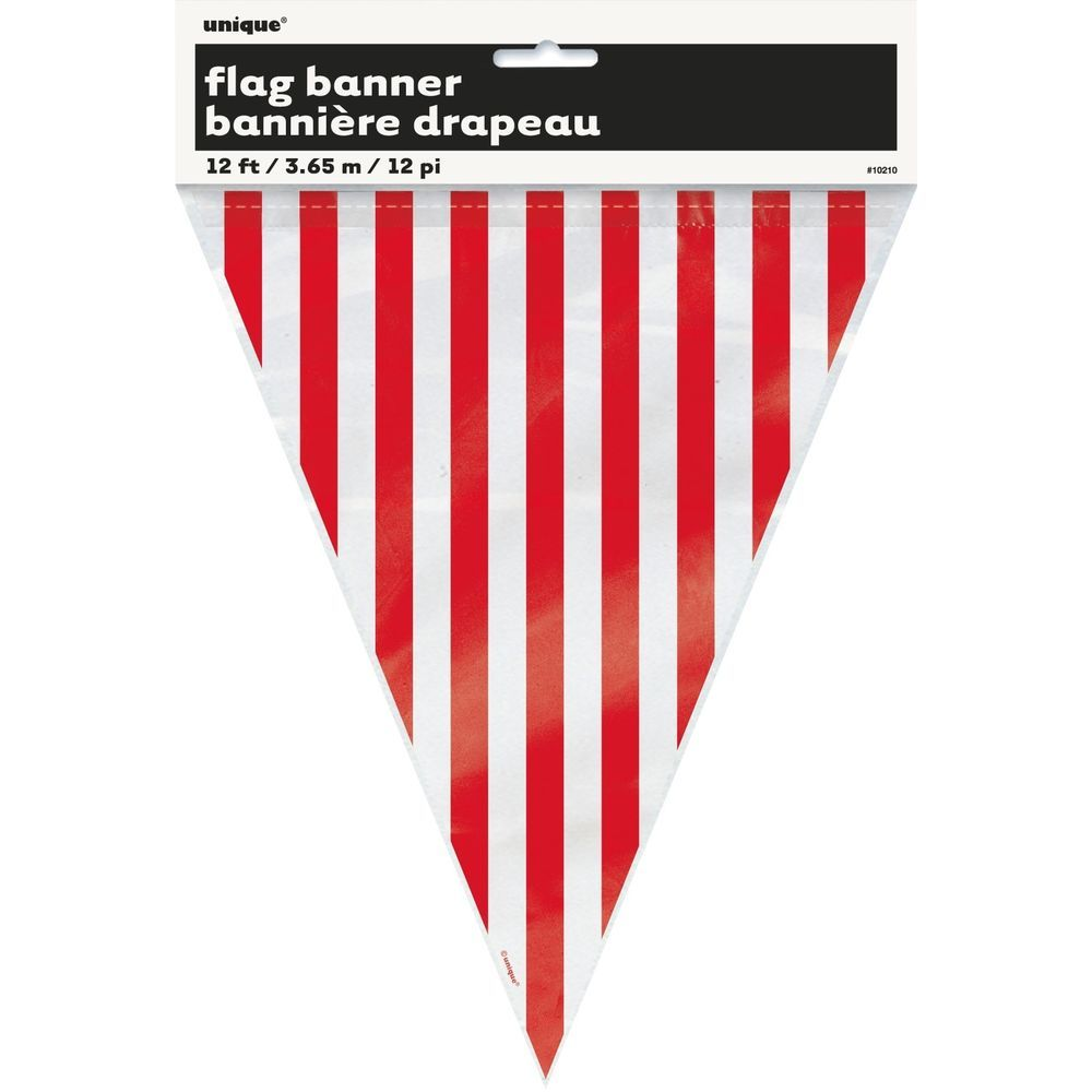 Red And White Striped Stripes Party Supplies Flag Pennant Banner Decoration Flag Banners Pennant Banners Flag