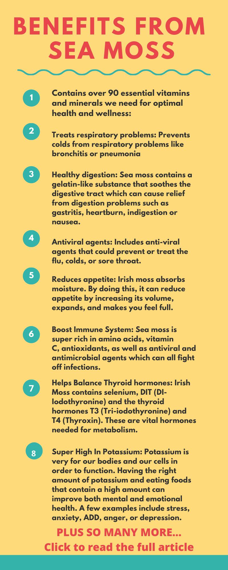 Sea Moss Health Benefits Sea Moss Health Health And Wellness