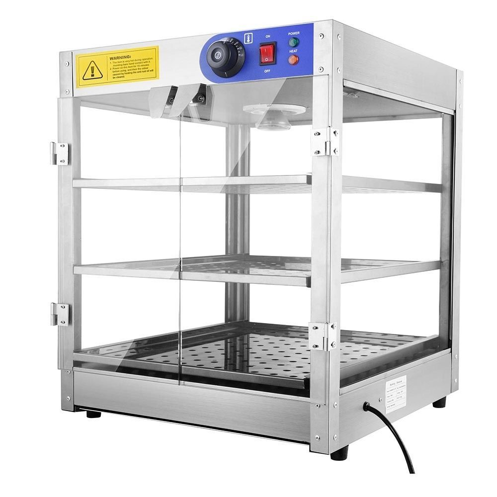 Commercial 20x20x24 countertop 3tier food pizza warmer