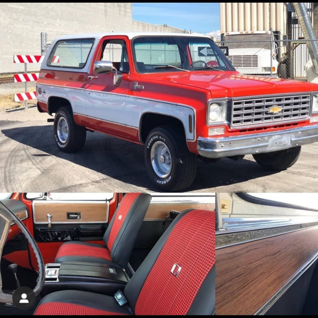𝙆5 𝘽𝙡𝙖𝙯𝙚𝙧𝙨 𝙂𝙈c 𝙅𝙞𝙢𝙢𝙮 𝙨 ғᴏʀsᴀʟᴇ On Instagram For Sale Please Contact Nwfindz Restored 1976 Bla K5 Blazer Chevy Blazer K5 85 Chevy Truck