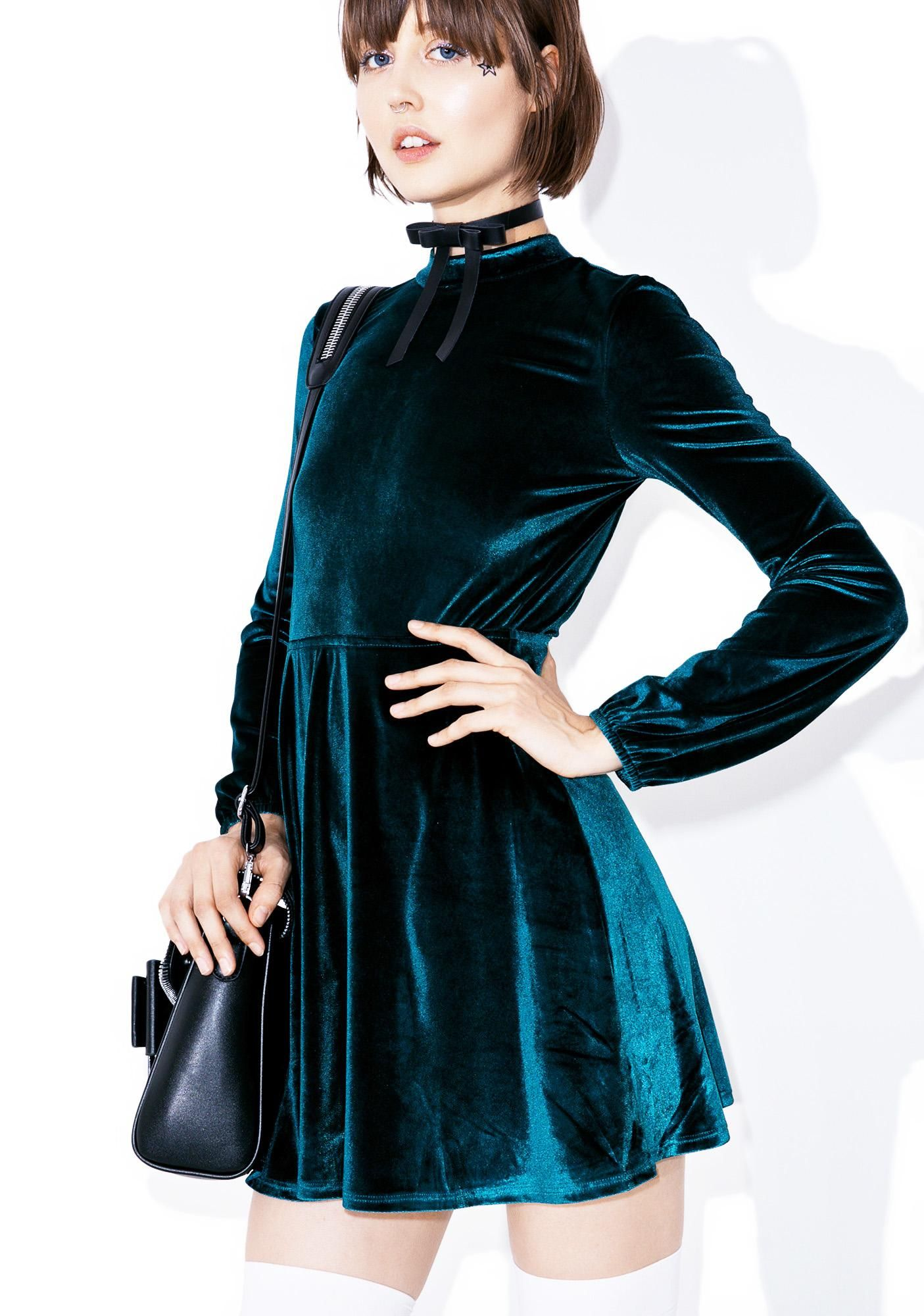 Rich Bitch Velvet Dress | Samt