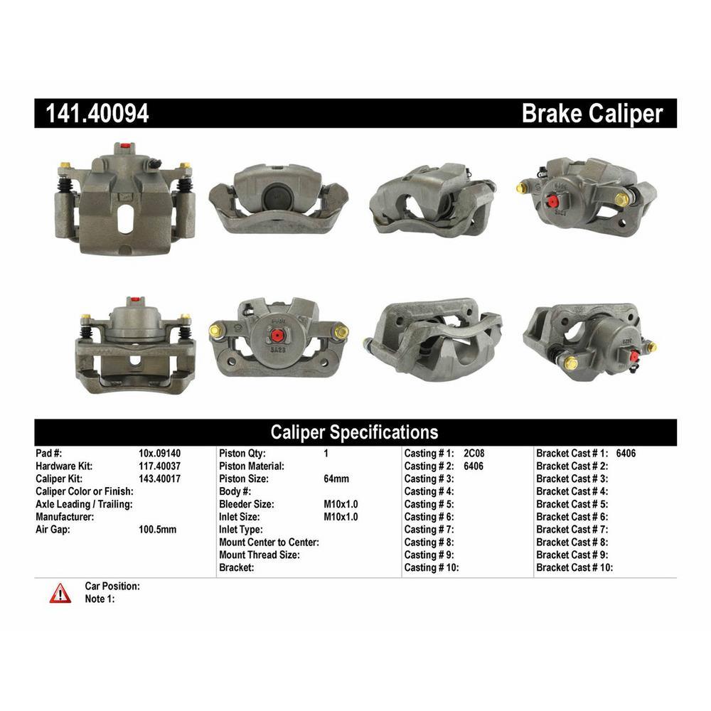 Centric Parts Disc Brake Caliper 2003-2008 Honda Pilot-141
