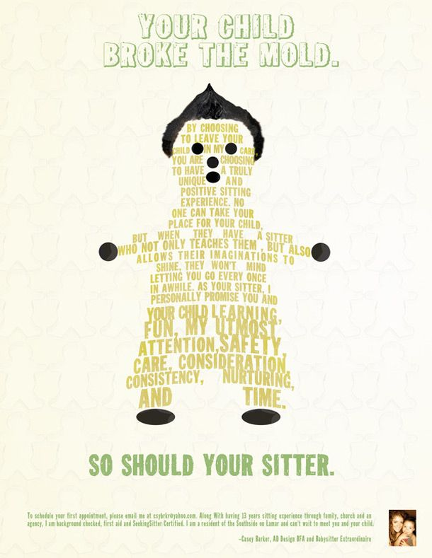 Babysitting Flyer Template Convite Aniversrio Copy Of Babysitting