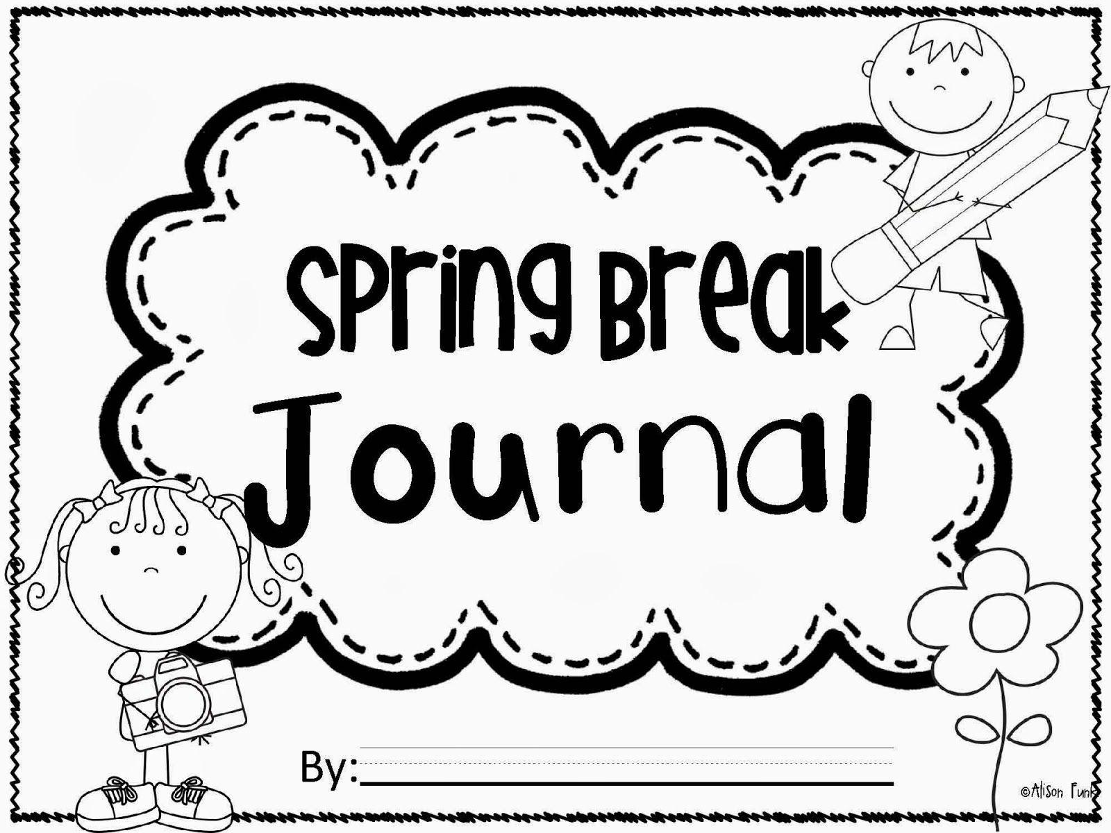 Freebie Spring Break Journal Great For Taking Along On