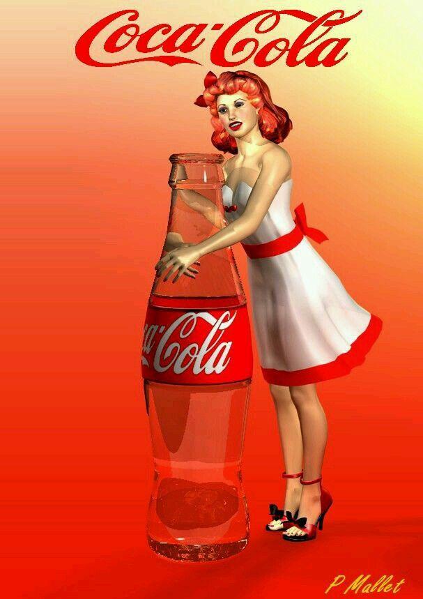 Pin up- Coca Cola