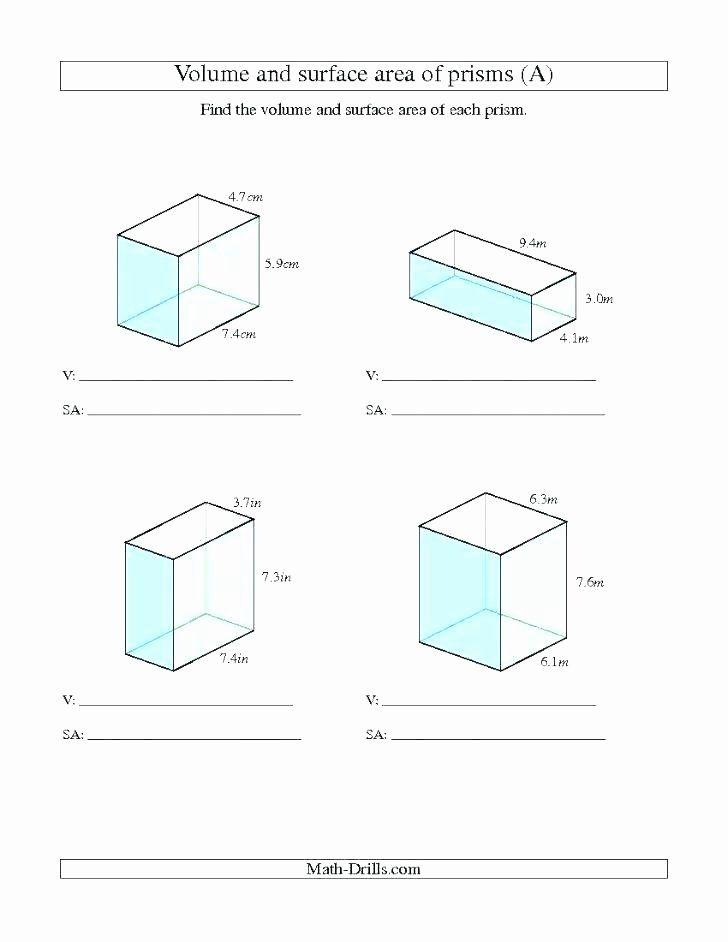 Volume Worksheet 4th Grade Measurement Worksheets Grade 4