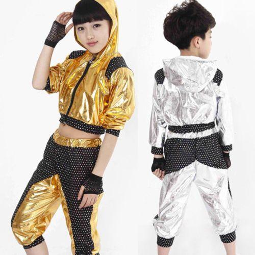 New Girl Boy Dance Costumes Kid Jazz Hip Hop Morden Dancewear Hooded Top Pan View More On Dance Costumes Kids Kids Designer Dresses Childrens Dancewear