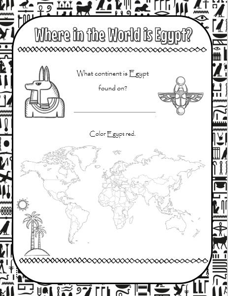photo about Ancient Egypt Printable Worksheets titled Right here is a freebie, Historical Egypt Worksheet Fastened! For grades