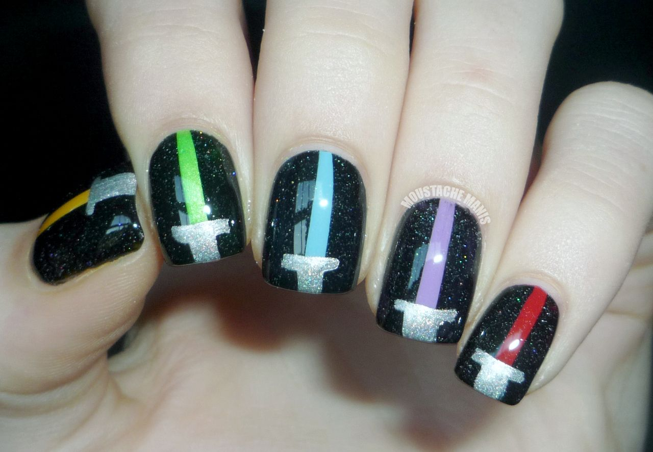 7 Amazing Star Wars Inspired Nails The Michigan Mom Star Wars Nails Nails Disney Nails