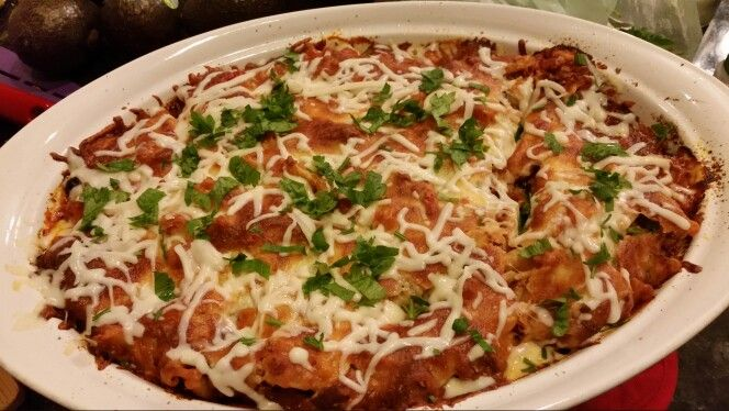 Baked ziti with cheese and eggplant