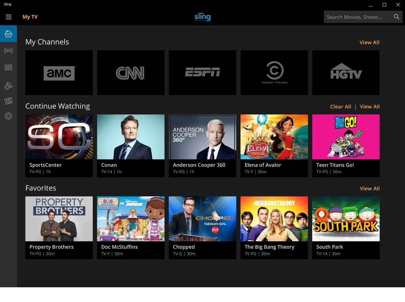 Sling TV Makes its Debut on Windows 10 Avalor