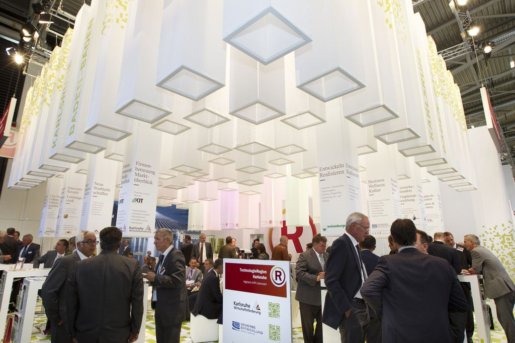 Exhibition Stand Definition : Square extrusion space definition graphics installations and