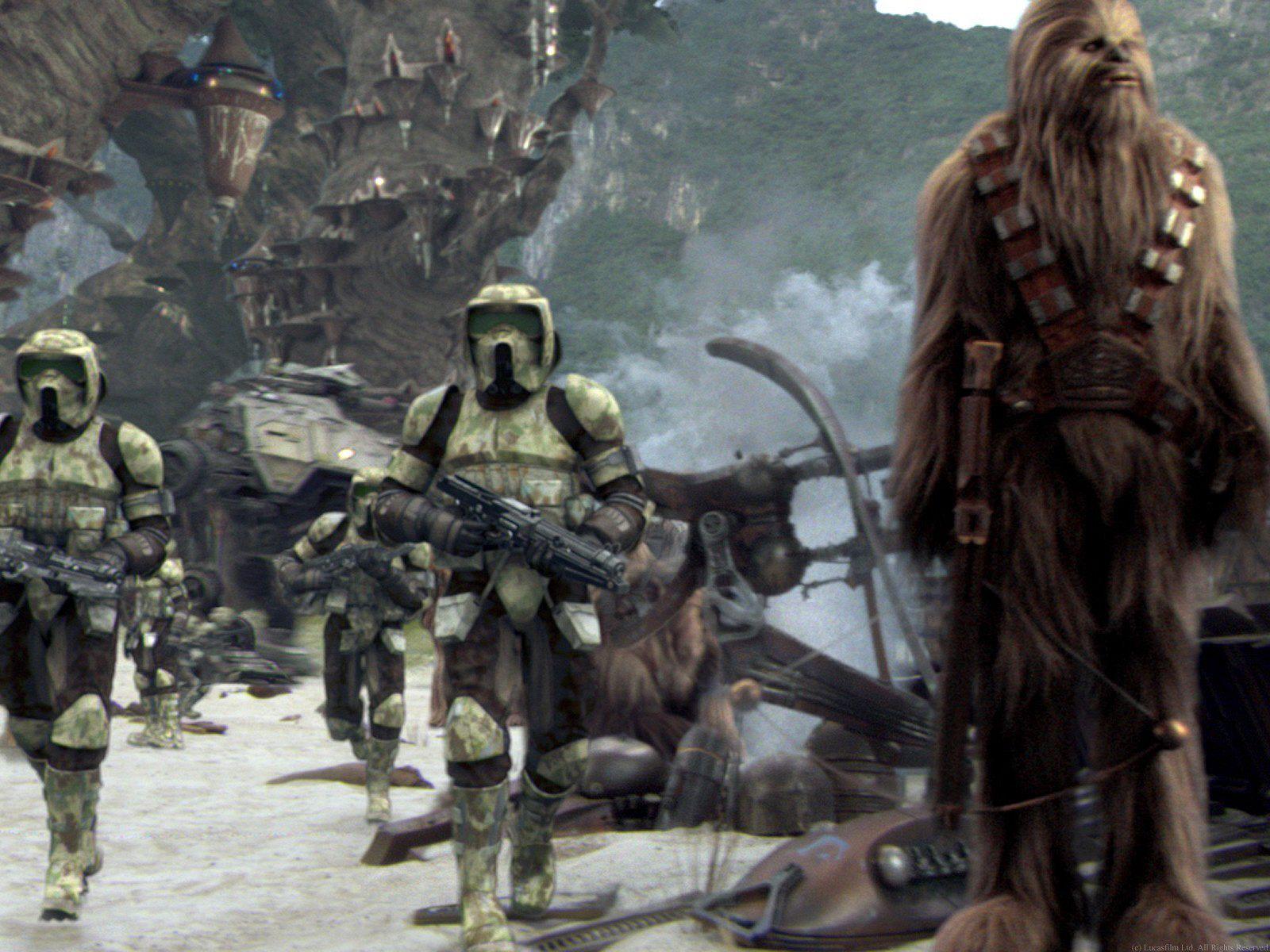 Clone Trooper On Kashyyyk Star Wars 3 The Revenge Of The Sith Star Wars Fine Art Star Wars Images Star Wars Canon