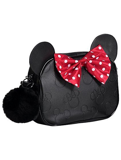 Disney Minnie Mouse Black Cross Body Bag | Kids | George