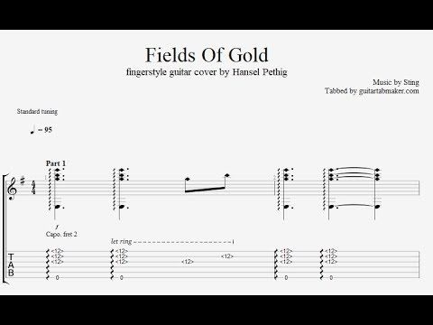 Sting - Fields Of Gold fingerstyle guitar tabs - pdf guitar sheet ...