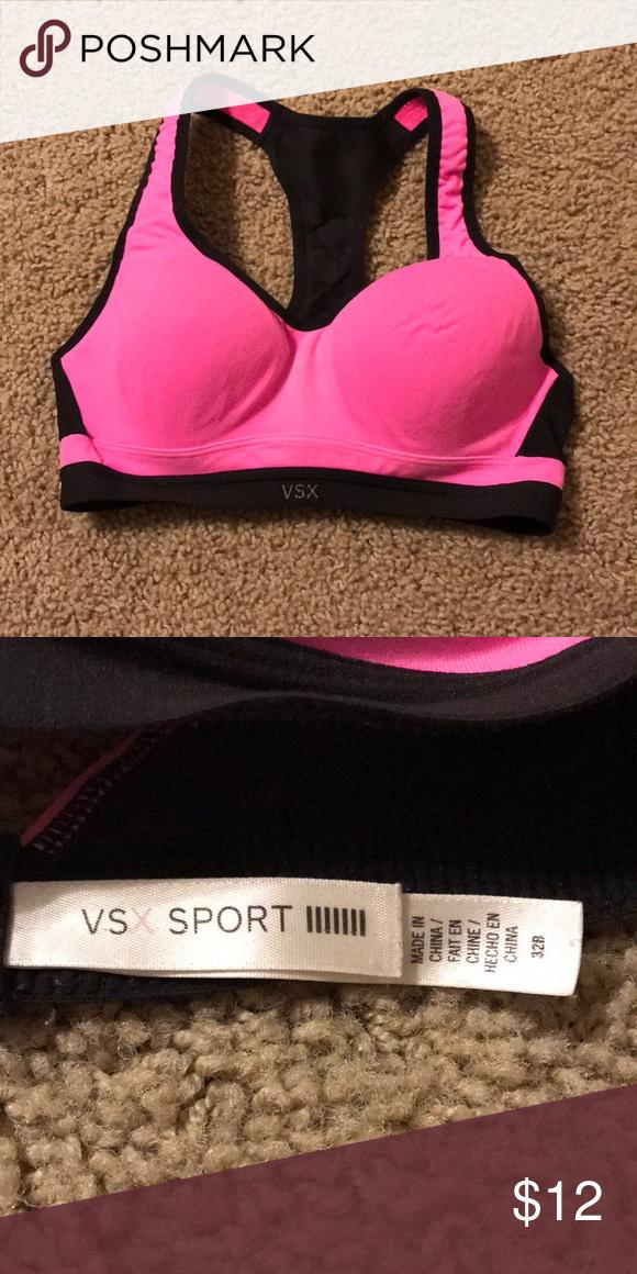 ee4f7febdba8a Victoria's Secret Sports Bra Padded sports bra that's hot pink with ...