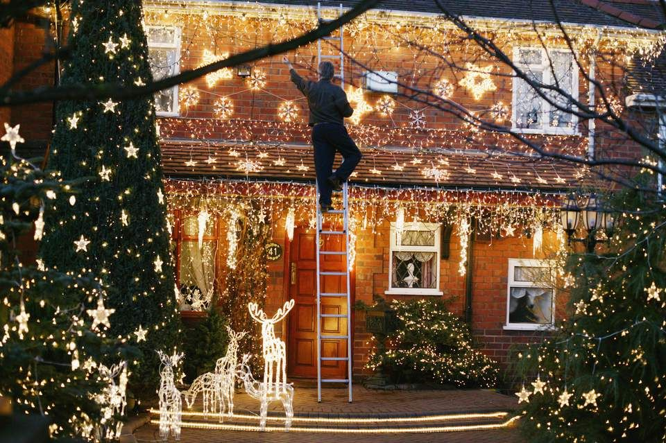 How To Hang Outdoor Christmas Lights Outdoor Christmas Christmas Lights Outside Hanging Christmas Lights