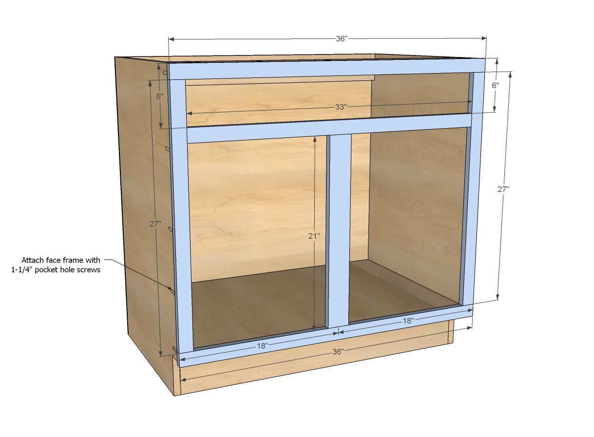 Best Kitchen Gallery: Ana White Build A 36 Sink Base Kitchen Cabi Momplex Vanilla of Kitchen Cabinets With Sink on rachelxblog.com