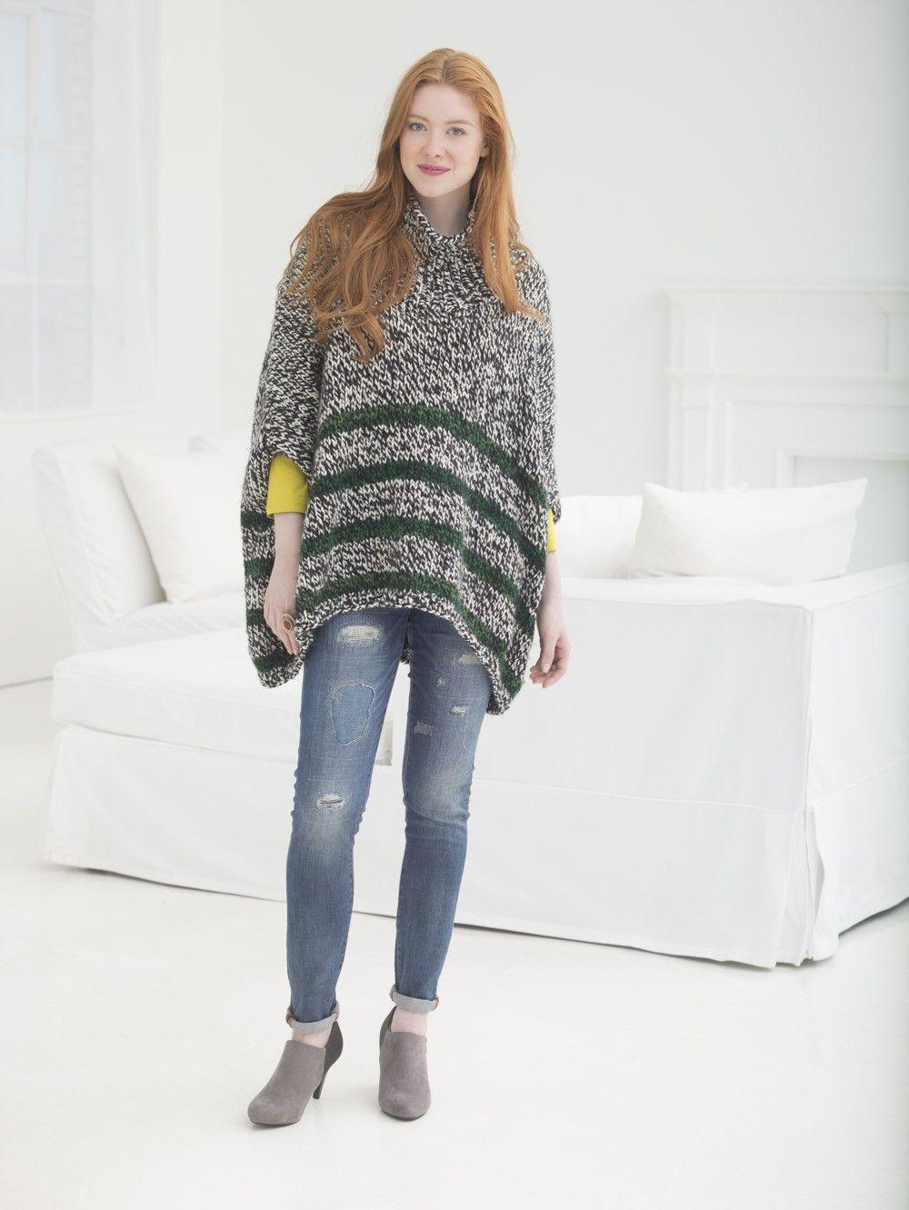 Penelope Poncho (Knit) | manualidades | Pinterest