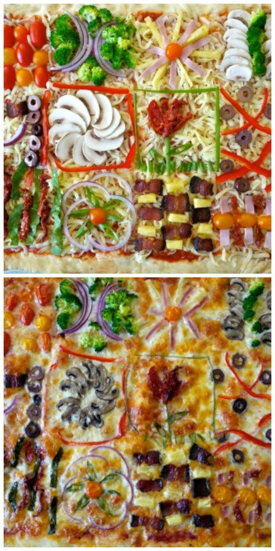 Fun Party Quilt Pizza. Click to watch the recipe video.
