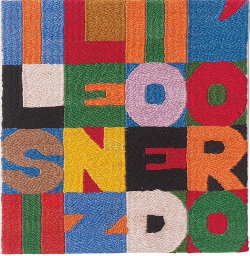 Alighiero boetti il silenzio d oro silence is golden 1988 textile pinterest italian - Mur incontri silence altek italia design ...