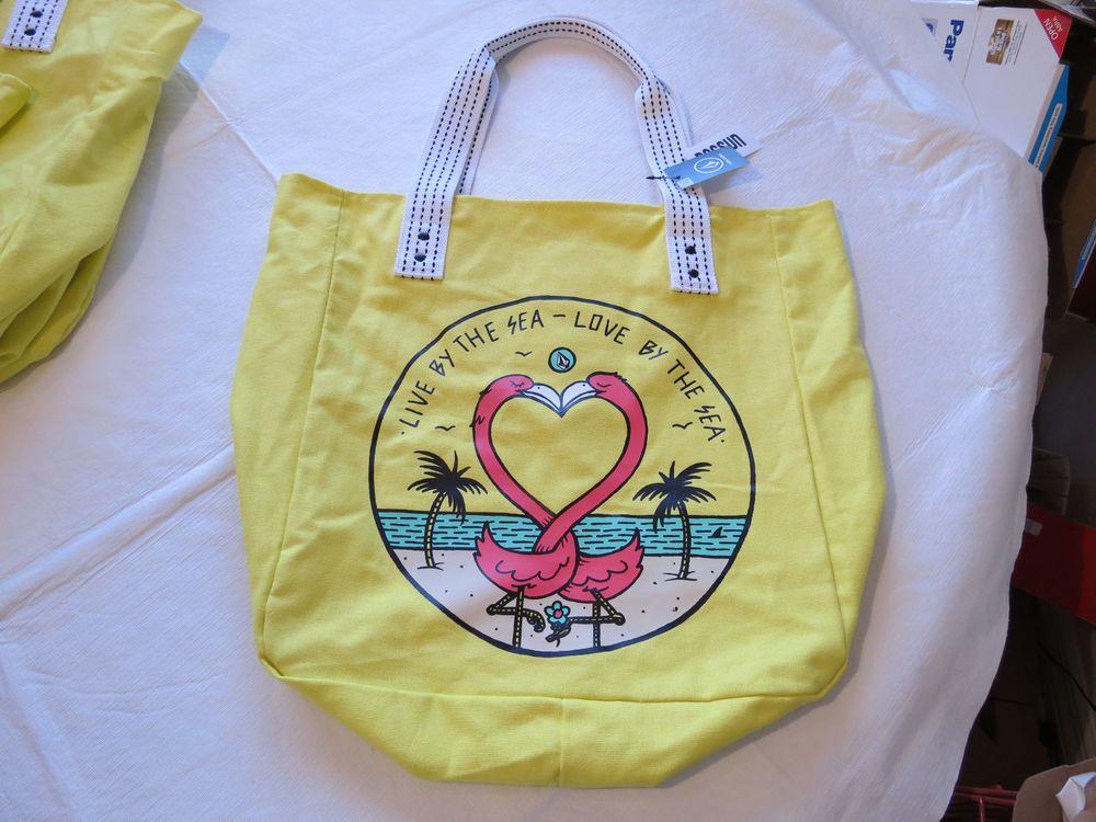Juniors womens girls Volcom Bird beach pool bag Getaway Canvas Beach Tote NEW*^ #Volcom #beachToteBag