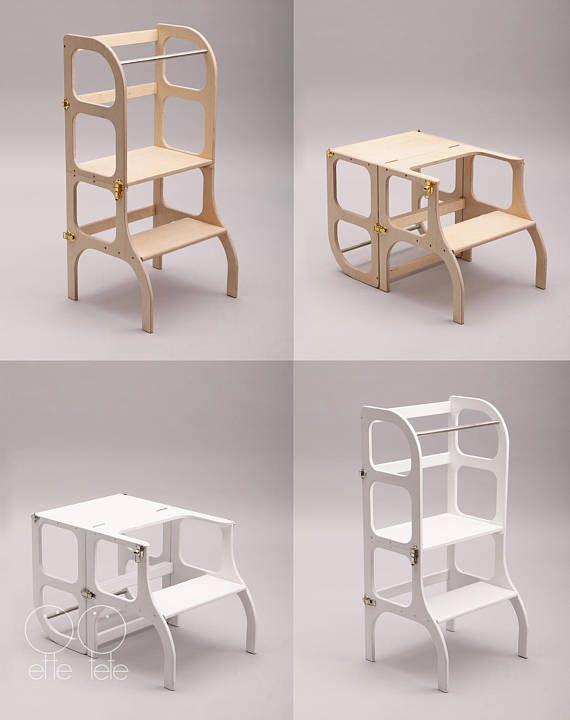 Peque a torre auxiliar mesa silla todo en uno montessori - Mesas auxiliares pequenas ...