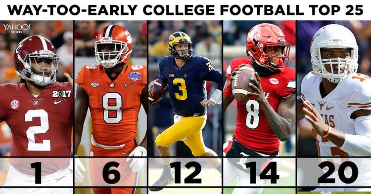 Dr. Saturday's stilltooearly 2017 college football Top