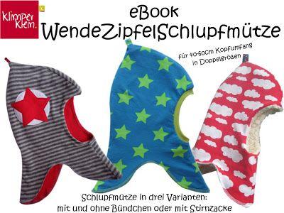 klimperklein: Wendezipfelschlupfmütze eBook | Nähen | Pinterest ...
