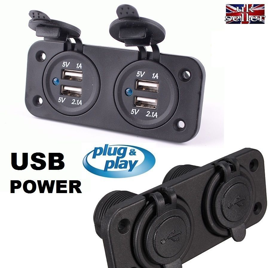 4 USB Adapter Charger Cigarette Lighter Sockets MOTORHOME CAMPER SELF BUILD VAN | eBay