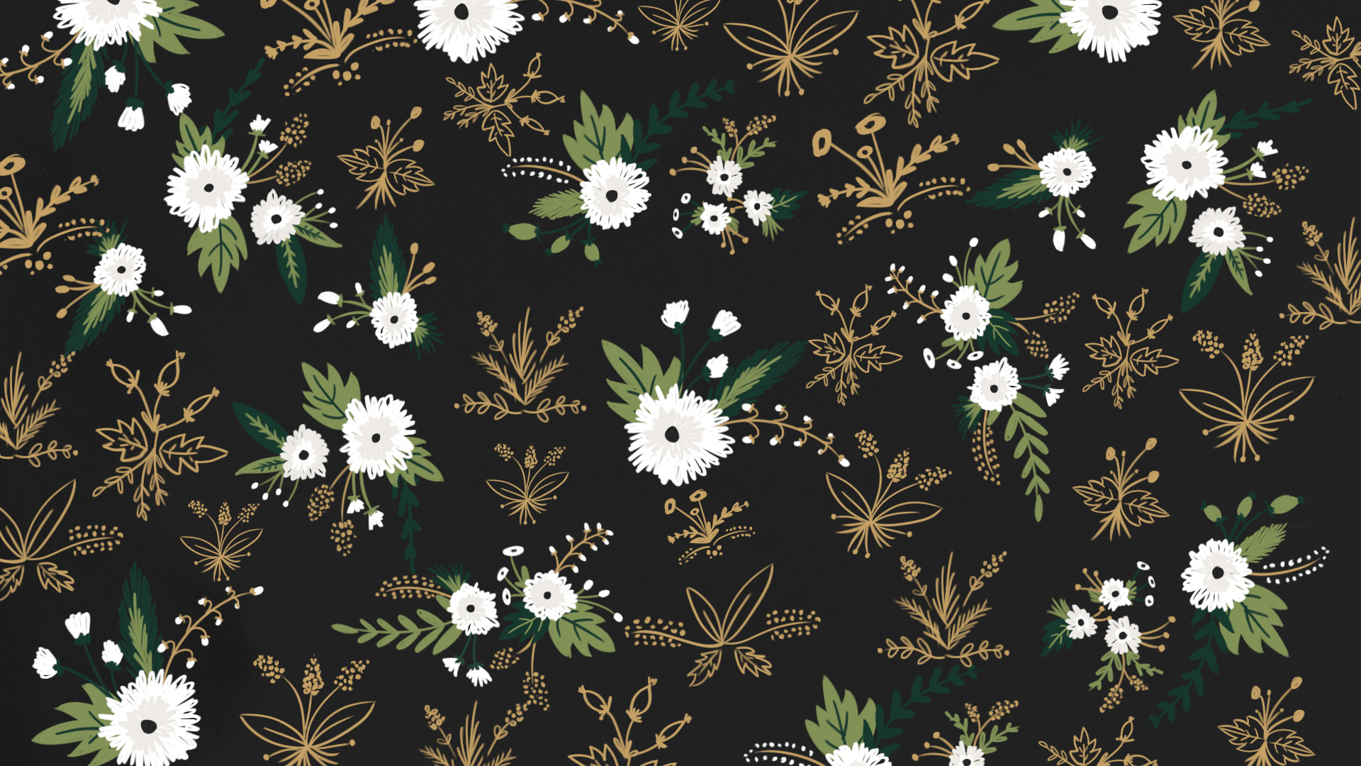 Black Floral Wallpaper Phone Wallpaper Patterns Desktop Wallpaper Black Floral Wallpaper
