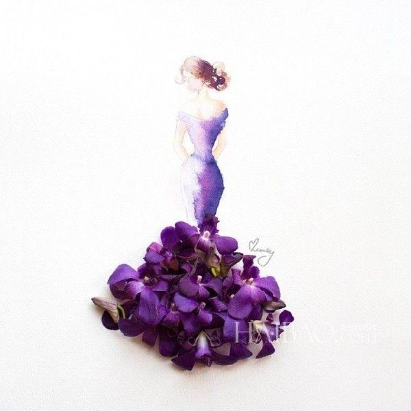 人们常用娇艳花朵来比喻美人,而马来西亚艺...