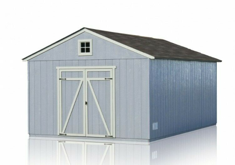 Wooden Single Car Garage Gable Roof Storage Shed With Floor 12 X 20 Feet Barn Handyhome Roof Storage Shed Gable Roof Design