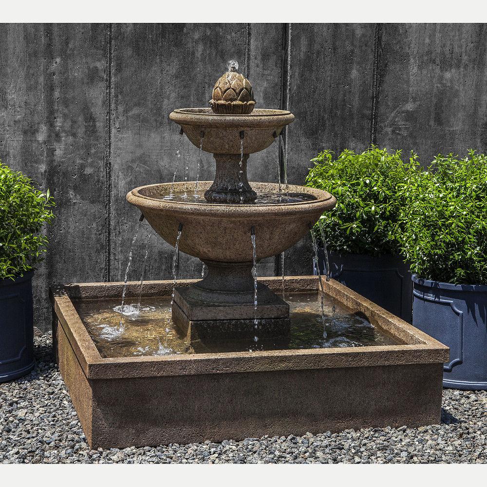 La Mirande Basin Tier Outdoor Water Fountain In 2020 Fountains Outdoor Water Fountains Outdoor Stone Fountains