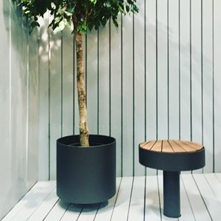 ELEMENTS outdoor planter & stool by Claesson Koivisto Rune for Widala