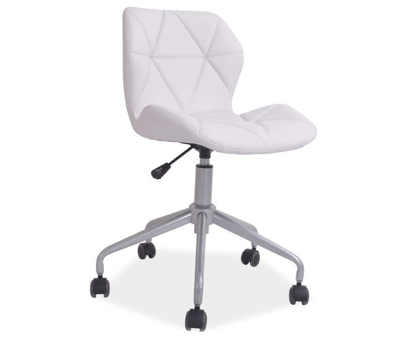 Just Home White Grid Chair With Spider Base Big Lots In 2020 Cute Desk Chair Cheap Desk Chairs Girls Desk Chair