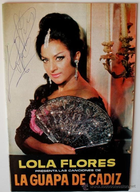 Libro De Canciones Lola Flores La Guapa De Cadiz Con Autógrafo En La Portada 1966 Rareza Bailarines De Flamenco Libro De Canciones Actriz De Cine