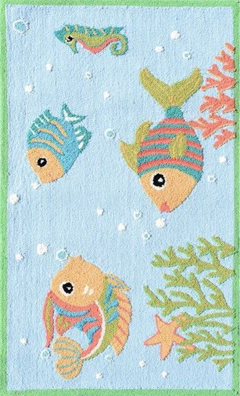 Fish Party Kids Area Rug
