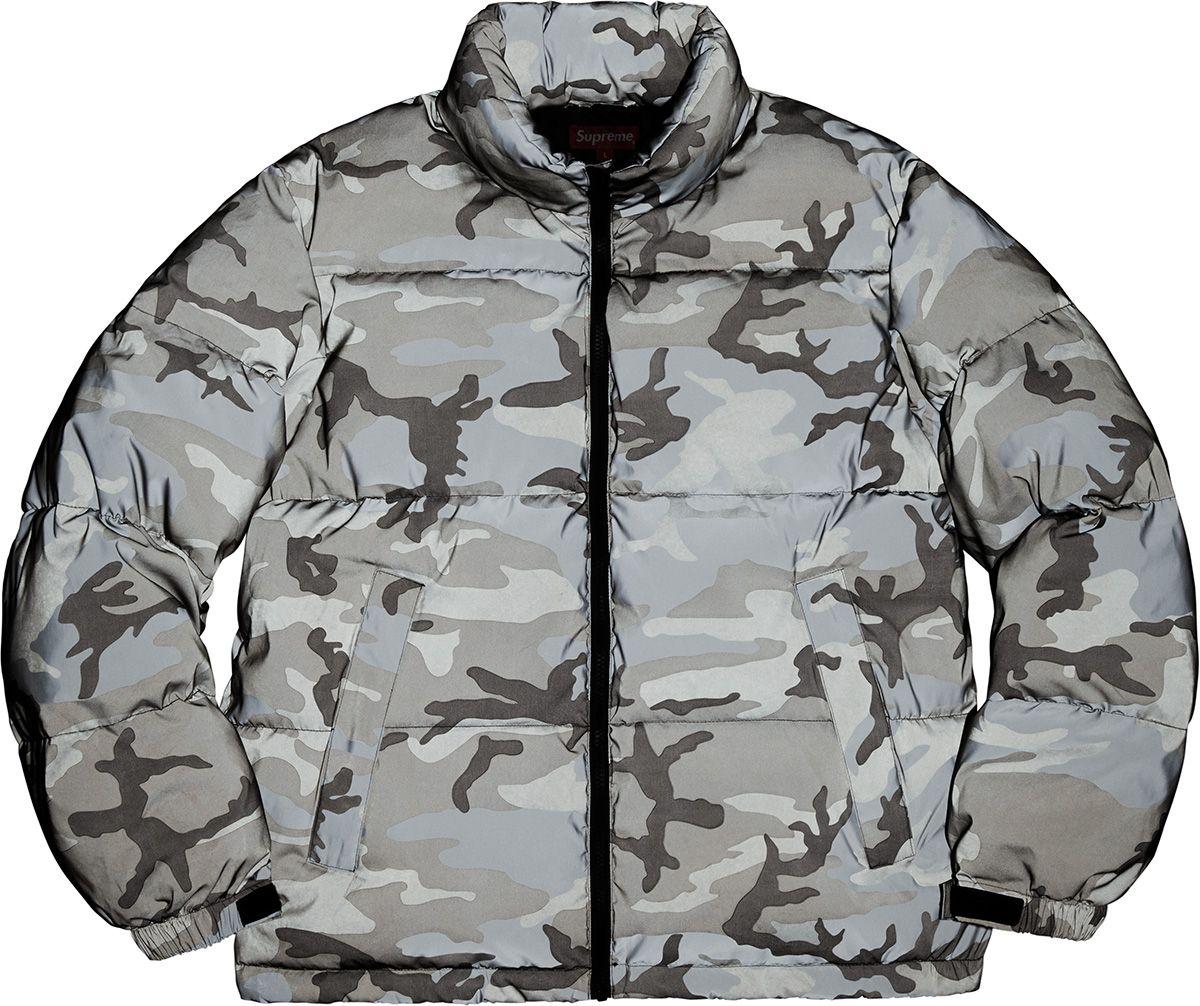 Supreme Reflective Camo Down Jacket Mens Outdoor Jackets Mens Puffer Jacket Jackets [ 1006 x 1200 Pixel ]