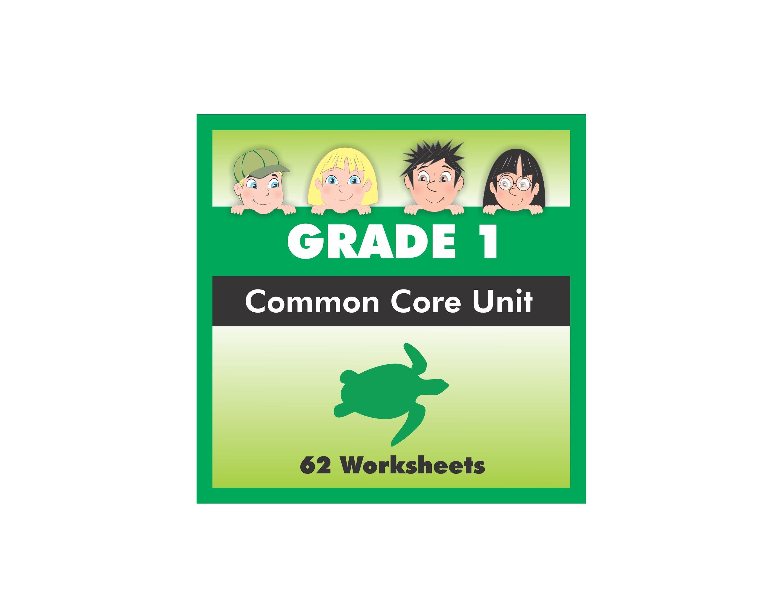 Grade 1 Sea Turtles Common Core Worksheet Pack