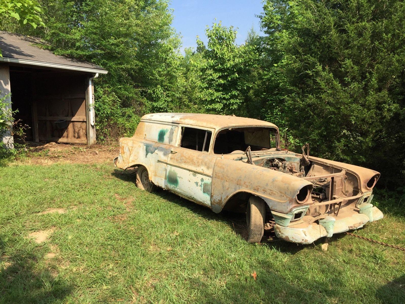 56 Chevy 2 Door Sedan Delivery Car Project Needs Rat Hot Rod Parts ...