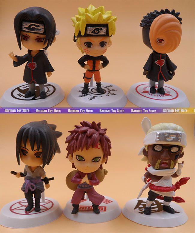 Wholesale Price 6pcs Lot 7cm Pvc Naruto Action Figure Set Q