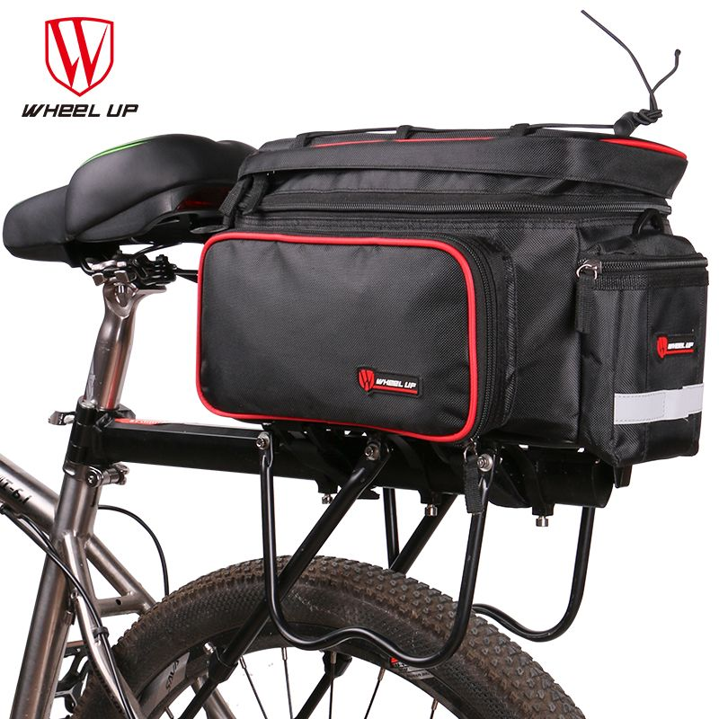 Cycle Bicycle Bag Bike Double Side Panniers Rear Rack Tail Seat Trunk Bag
