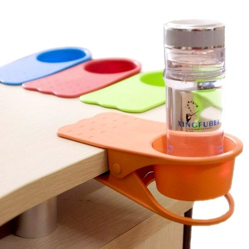 [$1.24] Home / Office Table Glass Clip / Desk Cup Holder, Color random delivery