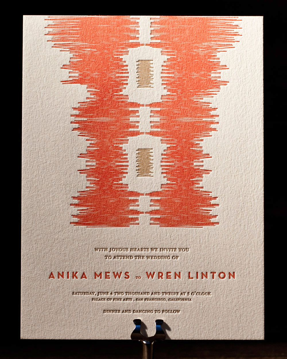 30 Modern Wedding Invitations We Love | Letterpress invitations ...