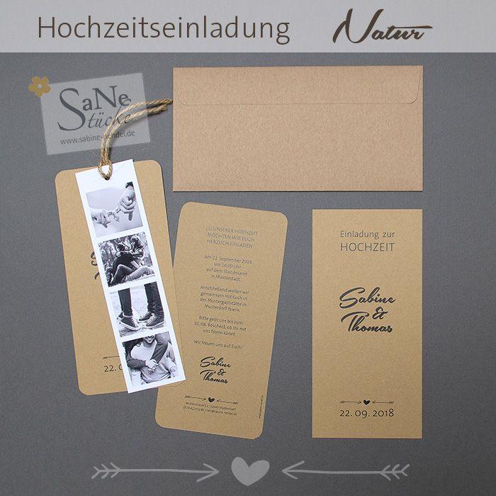 Einladungskarte Natur Zur Scheunen Hochzeit Oder Country Trauung