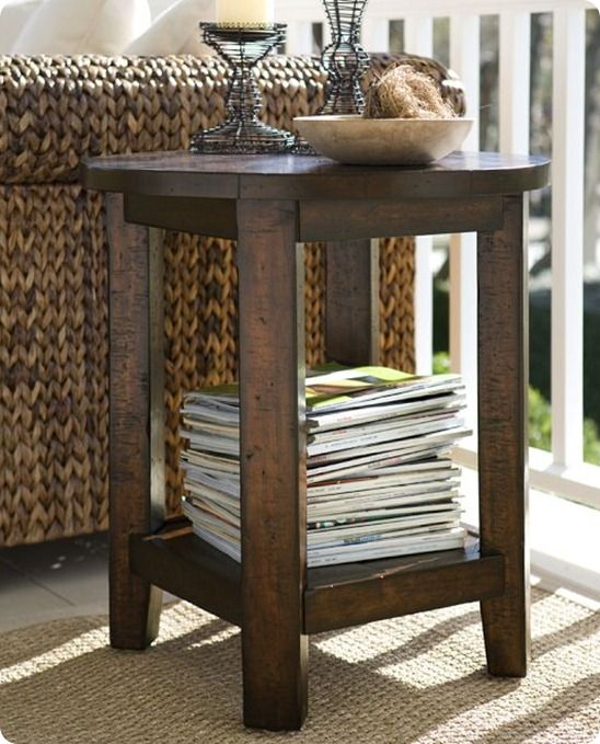 Table Was Inspired By The Benchwright Side Table From Pottery Barn